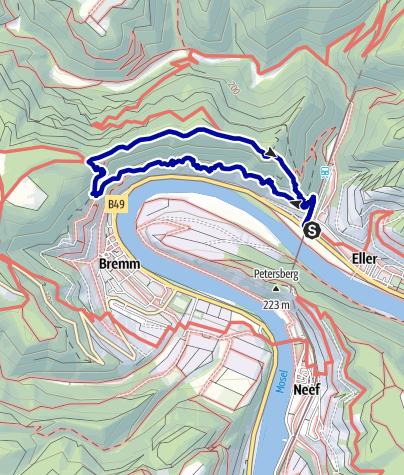 Karte / Calmont Klettersteig im Herbst