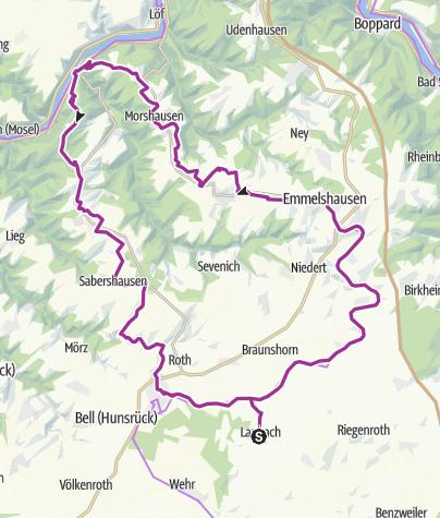 מפה / Hunsrück-Mosel