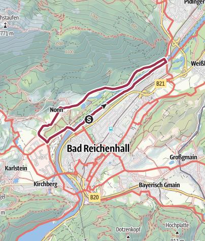Karte / Bad Reichenhall WoMo Stellplatz Rundtour