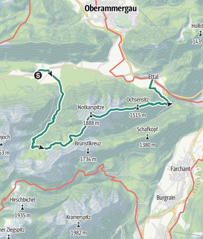 Map / Mountain tour - Notkarspitze - Graswang