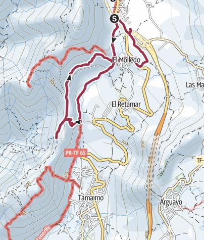 Karte / 28. November 2016 El Cielo Wanderung ab Santiago über El Molledo zurück