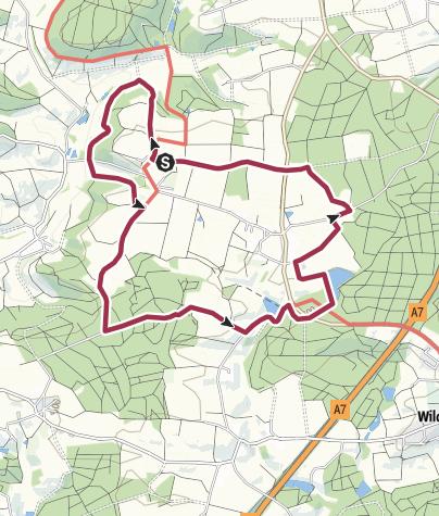 Map / Wanderung Wäldershub - Großenhub