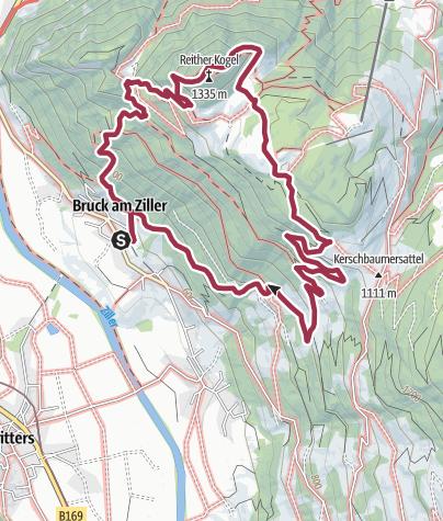 Karte / Zillertal-Reither Kogel Rundwanderung