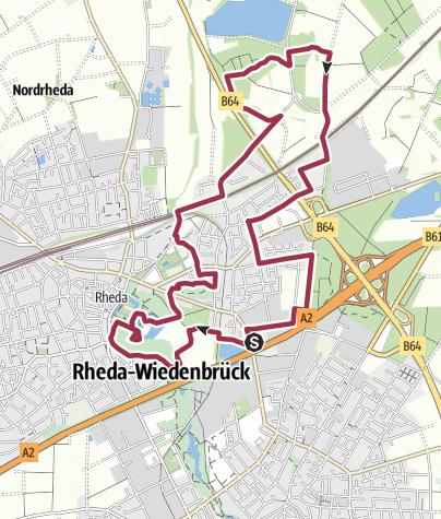 Map / B+H-2016-12-22: Schloß Rheda - Rhedaer Forst