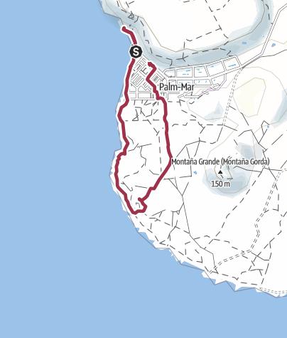 Karte / 4. Dezember 2016 Kleine Sonntagswanderung ab Palm Mar