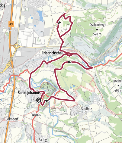 Map / Rundwanderung Eremitage Bayreuth - Allersdorf