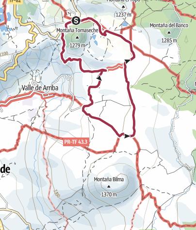 "Karte / 5. Dezember 2016 El Cielo Montagswanderung - ""um den Baum """
