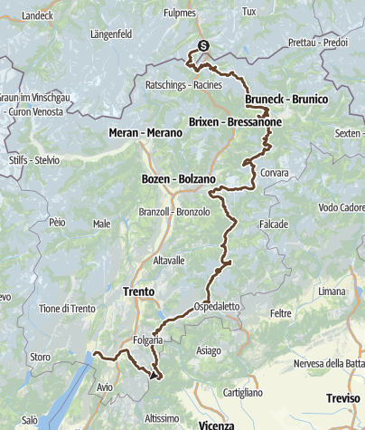 Karte / Alpencross 2017 - ein Plan