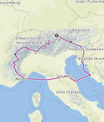 Karte / Tourenplanung am 10. Dezember 2016
