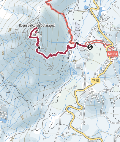 Karte / 14. Dezember 2016 Mittwochswanderung Roque del Conde