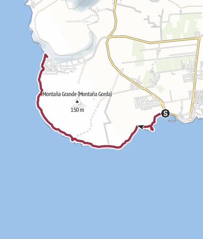 Karte / 16. Dezember 2016 Freitags-Küstenwanderung Las Galletas nach Palm Mar