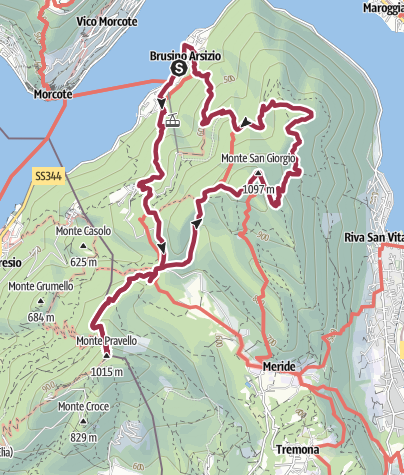 Karte / Zwei Gipfel Wanderung