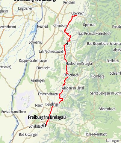 Karte / SP3 Freiburg - Oberkirch