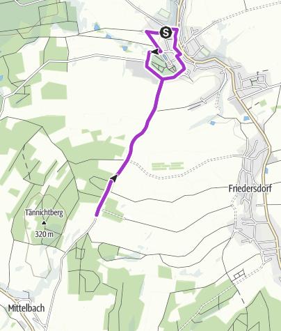 Karte / Oberlichtenauer Silvesterlauf:     5-Kilometer-Schleife