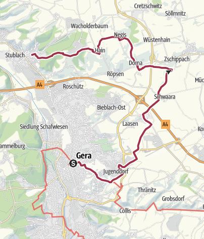 Karte / Gera-Markt - Brahmetal - Langenberg