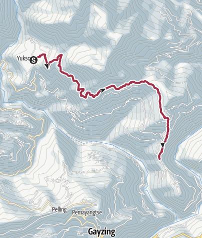 Karte / 3. Yuksom – Tashiding