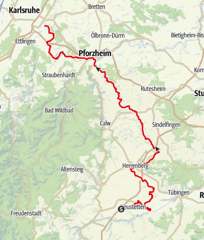 Map / Schönstatt-Pilgerweg Liebfrauenhöhe - Karlsruhe