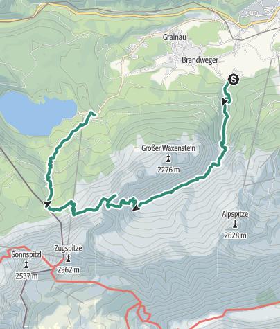 Map / Südliche Riffelspitze (2263m)