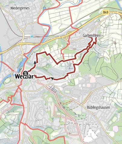 Karte / Wetzlarer Goetheweg - Auf Werthers Spuren Natur und Literatur erleben