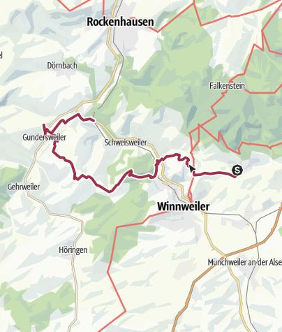 Karte / Von Imsbach nach Gundersweiler
