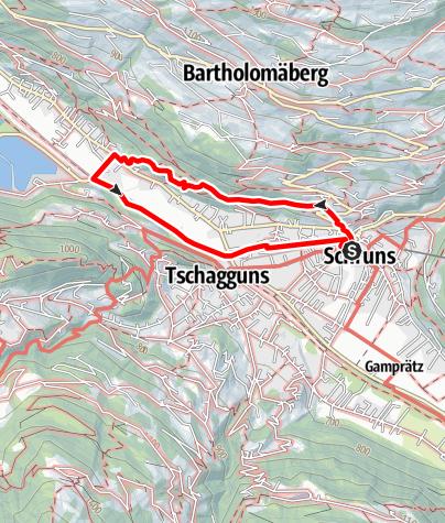 Karte / Litzwanderung