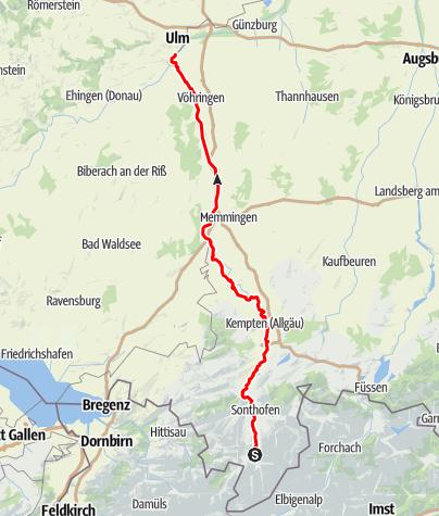 Karte / Iller-Radweg