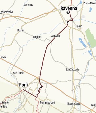 Map / VIA ROMEA – (ITA STAGE 24) – Ravenna – Forli'
