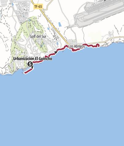 Karte / 30. Dezember 2016 Freitags Küstenwanderung Marina San Miguel nach Los Abrigos