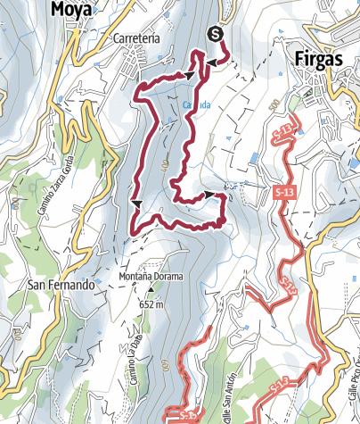 Karte / Hike in the Barranco Azuaje
