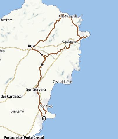 Mapa / Cala Mesquida