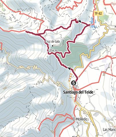 """Karte / 4. Januar 2017 Mittwochswanderung Santiago del Teide """" kleiner Gala """""""