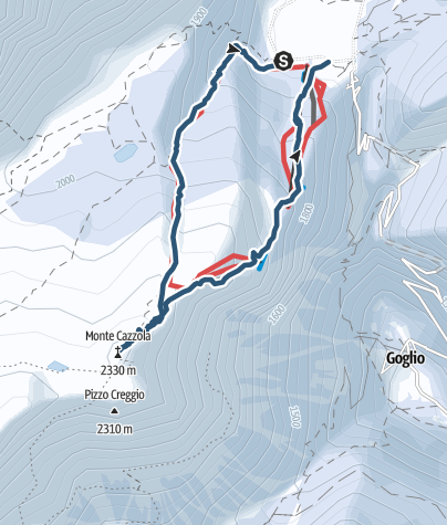 Karte / Monte Cazzola (2330m)
