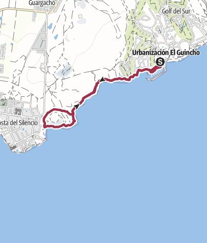 Karte / 6. Januar 2017 Freitagswanderung Marina San Miguel nach Costa de Silencio