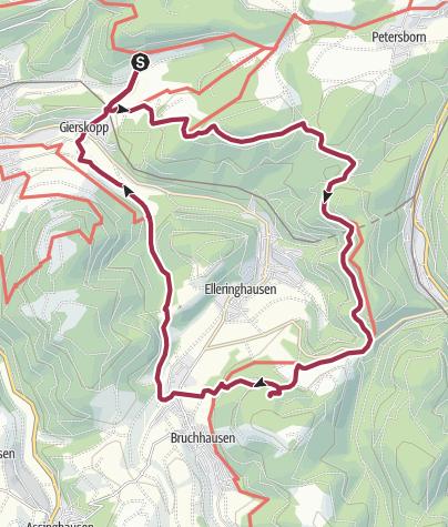 Mapa / B+H-2018-03-01: vom Schinkenwirt zu dn Bruchhausener Steinen