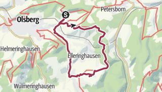 Hartă / B+H-2018-03-01: vom Schinkenwirt zu dn Bruchhausener Steinen
