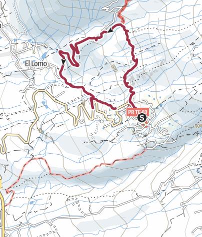 Karte / 9. Januar 2017 Montagswanderung ab Vera de Erques