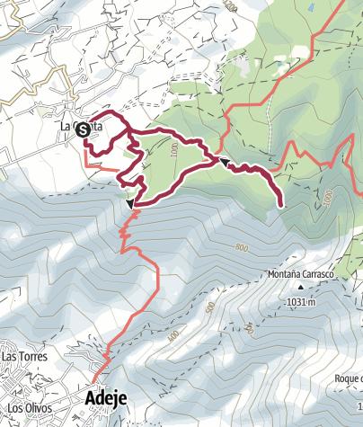 Karte /  11. Januar 2017 Mittwochswanderung ab La Quinta oberhalb Taucho