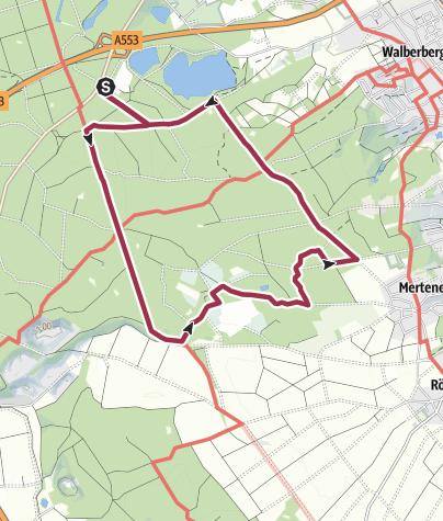Karte / Naturpark Rheinland - Ville A 11 - Brühl P Birkhof