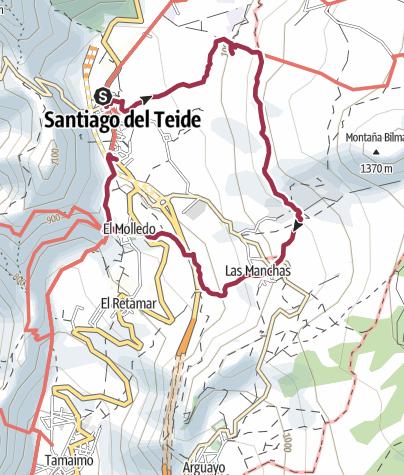 Karte /  18. Januar 2017 Mandelblütenwanderung ab Santiago del Teide