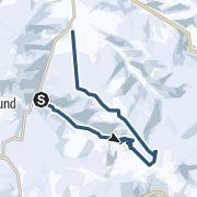Map / Skitour: Haltestelle St. Wilhelm Hohe Brücke - Feldberg - Zastler Hütte - Toter Mann - Hochfarn - Oberried