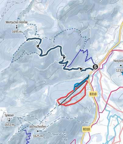 Karte / Wertacher Hörnle Skitour