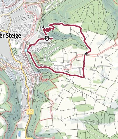 Karte / Geislingen Bismarkfelsen Weiler