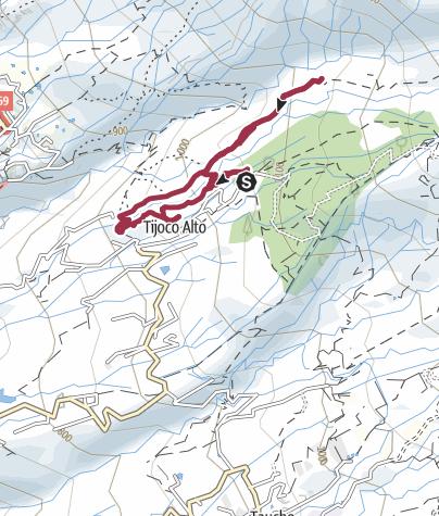 Karte / 23. Januar 2017 El Cielo Mandelblütenwanderung ab Tijoco Alto
