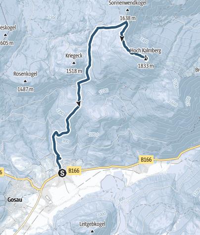 Karte / Gosau - Hoher Kalmberg