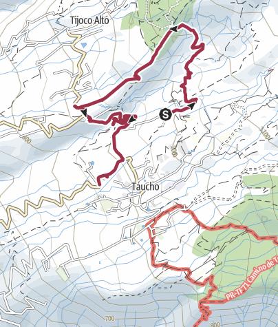 Karte /  25. Januar 2017 Mittwochswanderung Barranco de Ye