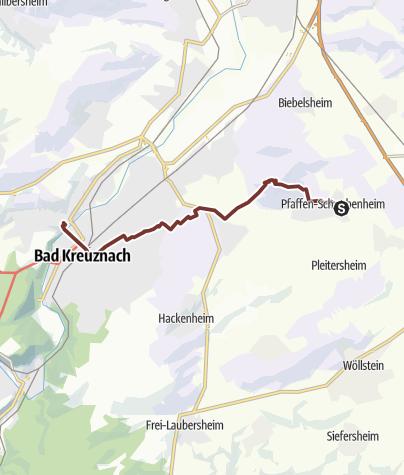 Karte / Chesterton 1a Pfaffen-Schwabenheim - Bad Kreuznach