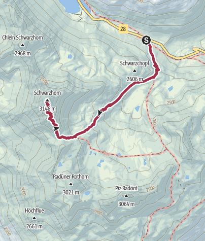 Mapa / BB2017-02 De Flüela Schwarzhorn