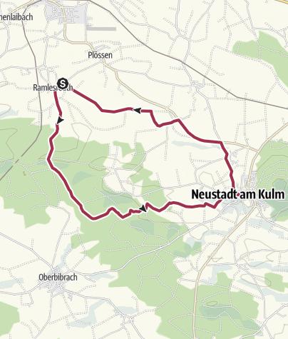 Map / Rundwanderung nach Neustadt am Kulm