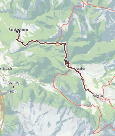 Map / Leonhardsweg Etappe 06: St. Koloman - Abtenau