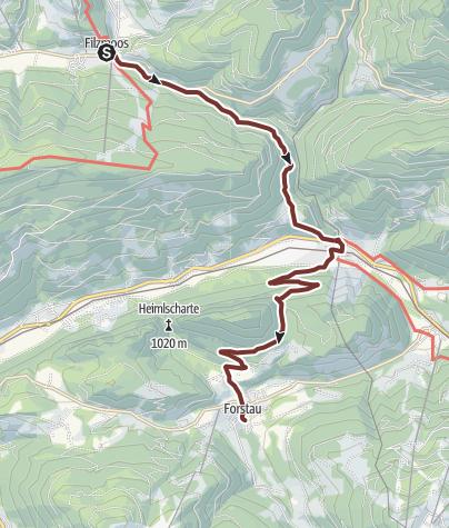 Map / Leonhardsweg Etappe 09: Filzmoos - Forstau